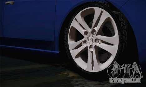 Honda Accord 2010 pour GTA San Andreas sur la vue arrière gauche
