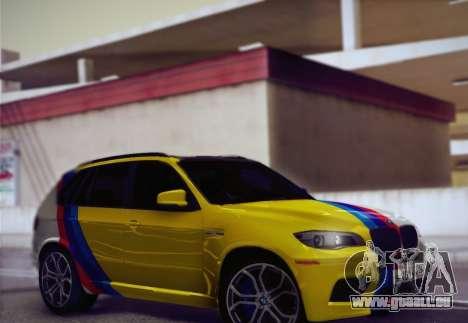 BMW X5M 2013 pour GTA San Andreas vue de côté