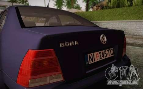Volkswagen Bora pour GTA San Andreas vue intérieure