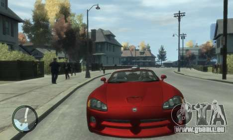 Dodge Viper SRT-10 2003 v2.0 für GTA 4 Rückansicht