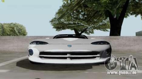 Dodge Viper RT-10 1992 für GTA San Andreas zurück linke Ansicht