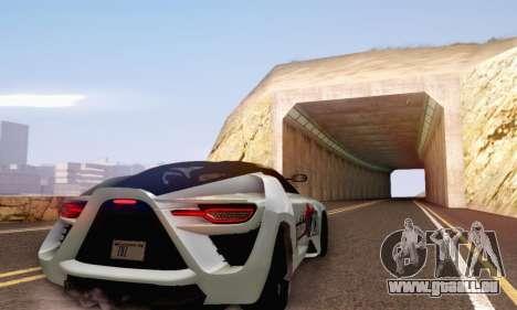 Bertone Mantide 2010 Rock Generation pour GTA San Andreas vue intérieure