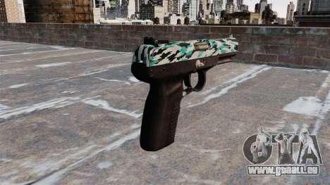 Pistolet FN Cinq à sept Aqua Camo pour GTA 4 secondes d'écran