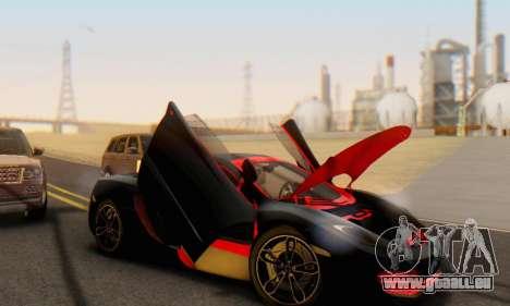Mclaren MP4-12C Spider Sonic Blum pour GTA San Andreas salon