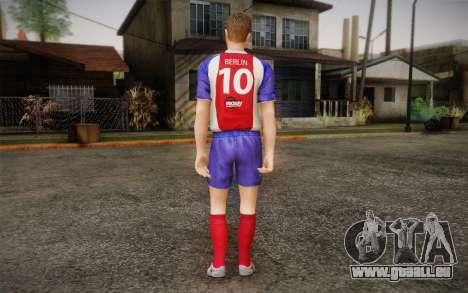 Footballeur pour GTA San Andreas deuxième écran