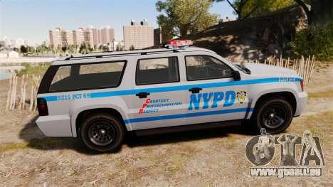 GTA V Declasse Granger NYPD für GTA 4 linke Ansicht