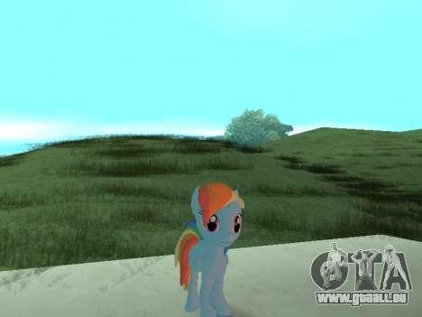 Rainbow Dash pour GTA San Andreas troisième écran