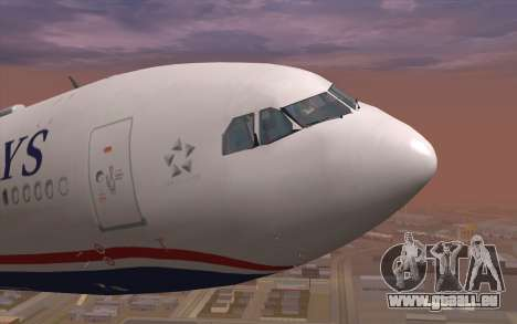 Airbus A330-300 für GTA San Andreas Innenansicht
