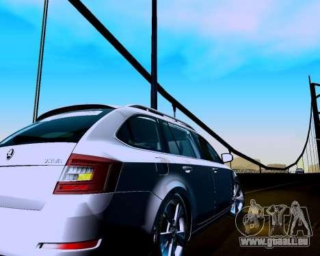 Skoda Octavia Combi A7 für GTA San Andreas rechten Ansicht