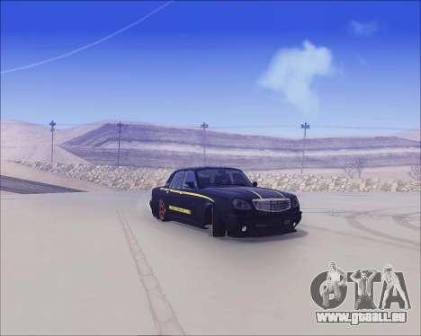 GAZ 31105 Accordables pour GTA San Andreas sur la vue arrière gauche
