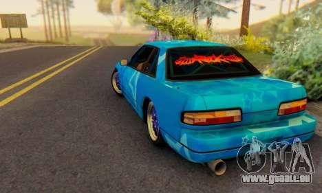 Nissan Silvia S13 Blue Star pour GTA San Andreas sur la vue arrière gauche