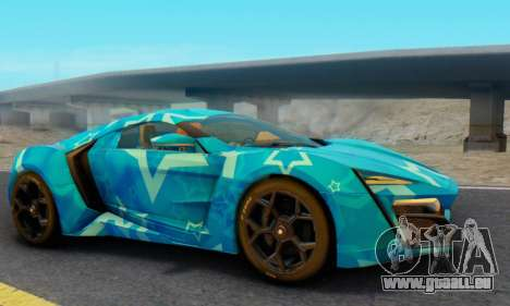W-Motors Lykan Hypersport 2013 Blue Star pour GTA San Andreas vue de droite