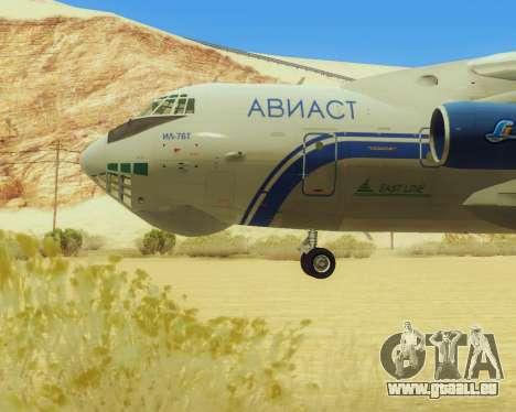 Il-76T AVAST für GTA San Andreas zurück linke Ansicht