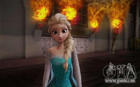 Frozen Elsa pour GTA San Andreas troisième écran