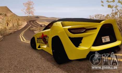 Bertone Mantide 2010 Rock Generation pour GTA San Andreas sur la vue arrière gauche