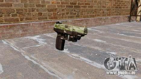 Pistolet FN Cinq à sept LAM Vert Camo pour GTA 4
