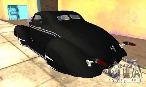 Lincoln Zephyr 1946 pour GTA San Andreas vue arrière