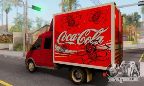 33023 GAZelle Coca-Cola für GTA San Andreas linke Ansicht