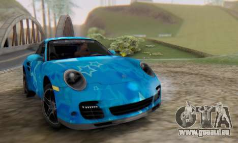 Porsche 911 Turbo Blue Star für GTA San Andreas