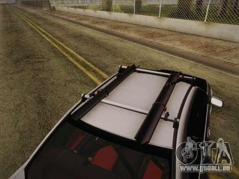 Subaru Impreza Hellaflush für GTA San Andreas Rückansicht