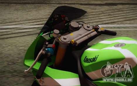 Kawasaki ZX-10R Ninja für GTA San Andreas Rückansicht