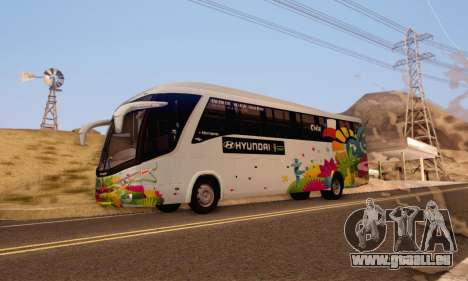 Marcopolo Paradiso 1200 Brazil Fifa World Cup pour GTA San Andreas laissé vue