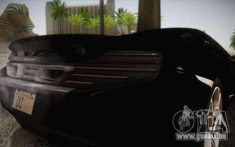 McLaren 650S Spider 2014 für GTA San Andreas Innenansicht