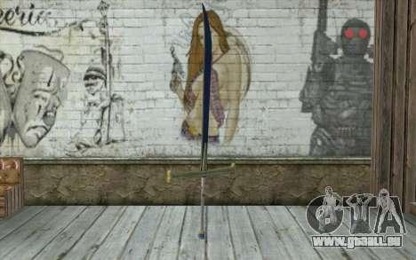 One Piece Black Sword pour GTA San Andreas deuxième écran