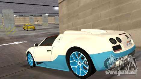 Bugatti Veyron Grand Sport Vitesse für GTA Vice City linke Ansicht