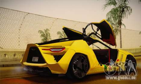 Bertone Mantide World Brasil 2010 pour GTA San Andreas vue intérieure