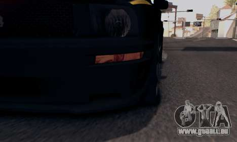 Ford Mustang Shelby Terlingua 2008 NFS Edition pour GTA San Andreas vue de dessus