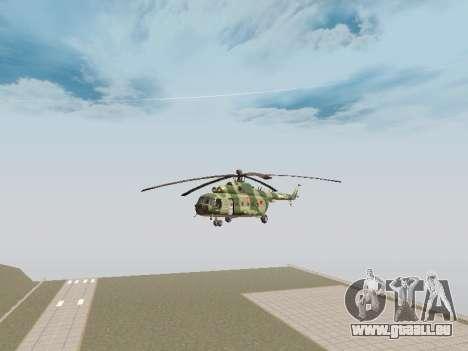 Mi-8T pour GTA San Andreas sur la vue arrière gauche