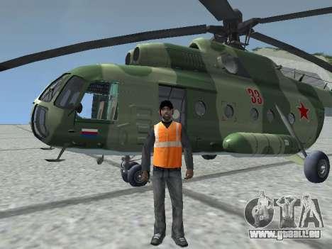 Mi-8T pour GTA San Andreas laissé vue