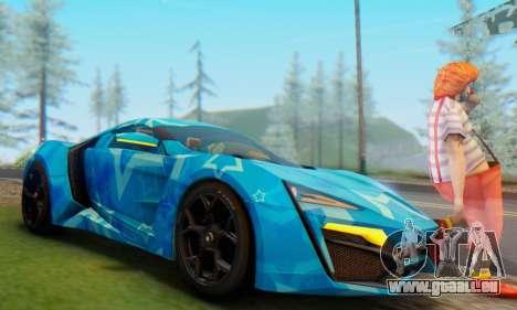 W-Motors Lykan Hypersport 2013 Blue Star pour GTA San Andreas