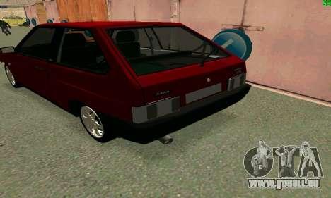 VAZ 2108 Turbo für GTA San Andreas Rückansicht