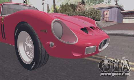 Ferrari 250 GTO 1962 pour GTA San Andreas vue de droite