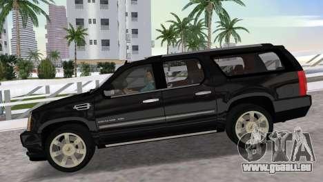 Cadillac Escalade ESV Luxury 2012 pour une vue GTA Vice City de la droite