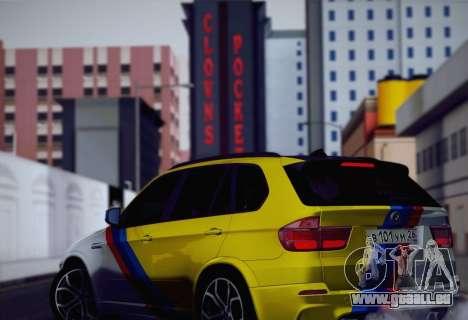 BMW X5M 2013 pour GTA San Andreas salon