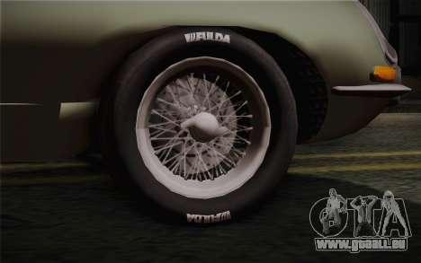 Jaguar E-Type 4.2 für GTA San Andreas zurück linke Ansicht