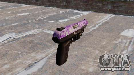 Pistolet FN Cinq à sept LAM Violet Camo pour GTA 4 secondes d'écran
