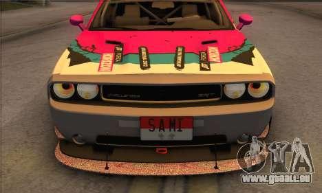 Dodge Challenger SRT8 2012 für GTA San Andreas obere Ansicht