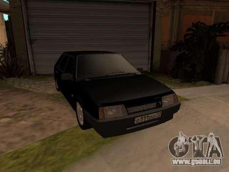 VAZ 2109 Gangster neuf V 1.0 pour GTA San Andreas vue intérieure