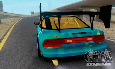 Nissan 240SX Blue Star für GTA San Andreas Rückansicht
