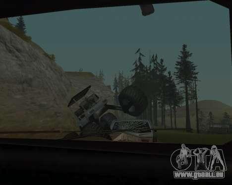 Caddy Monster Truck für GTA San Andreas Rückansicht