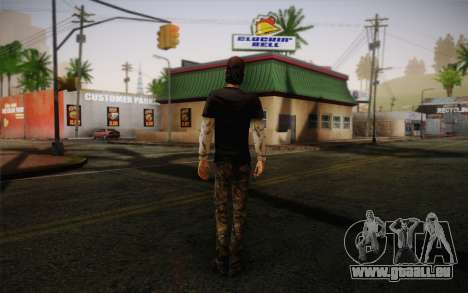 Nick из The Walking Dead pour GTA San Andreas deuxième écran
