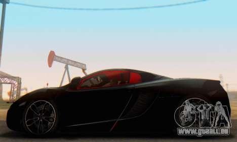 Mclaren MP4-12C Spider Sonic Blum für GTA San Andreas linke Ansicht