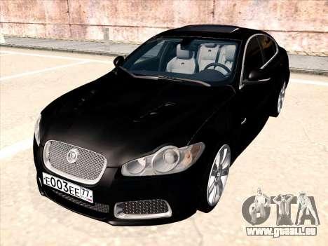 Jaguar XFR pour GTA San Andreas sur la vue arrière gauche