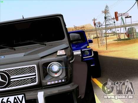 Mercedes-Benz G65 AMG 6X6 für GTA San Andreas Rückansicht