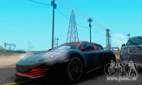 Mclaren MP4-12C Spider Sonic Blum pour GTA San Andreas vue de dessous