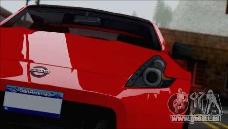 Nissan 370Z Vossen für GTA San Andreas rechten Ansicht